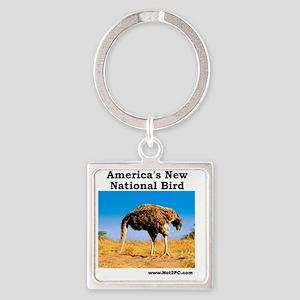 National Bird Square Keychain
