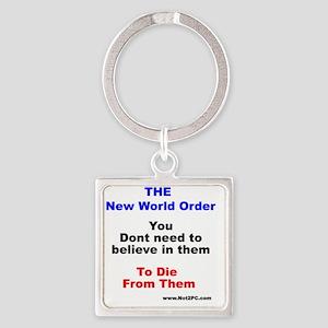 nwo believe Square Keychain