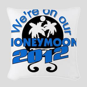 HONEYMOON2012BLACKBLUE Woven Throw Pillow