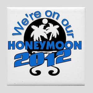 HONEYMOON2012BLACKBLUE Tile Coaster