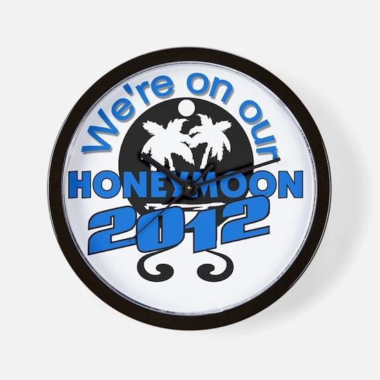 HONEYMOON2012BLACKBLUE Wall Clock