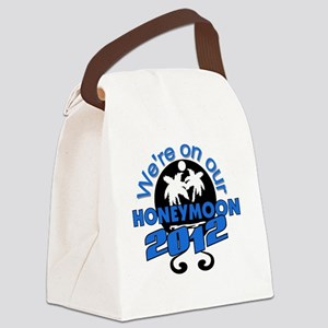 HONEYMOON2012BLACKBLUE Canvas Lunch Bag