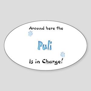 Puli Charge Oval Sticker