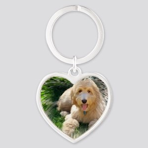 Goldendoodle Heart Keychain