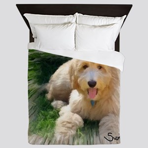 Goldendoodle Queen Duvet