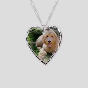Goldendoodle Necklace Heart Charm
