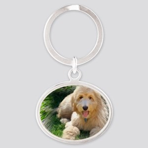 Goldendoodle Oval Keychain