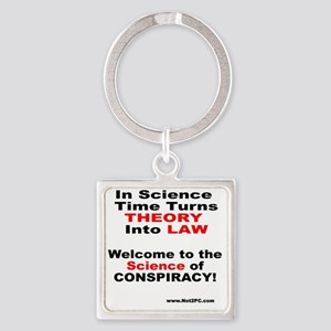 theory n law Square Keychain