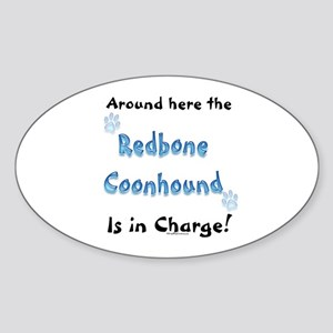 Coonhound Charge Oval Sticker