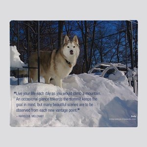 2012 Calendar Indy Snow Throw Blanket