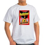 Religion: Kills Folks Dead! Red Raid Ash Grey T
