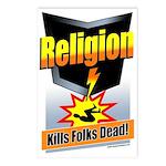 Religion: Kills Folks Dead! Postcards (Pack of 8)