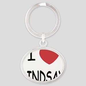 LINDSAY Oval Keychain