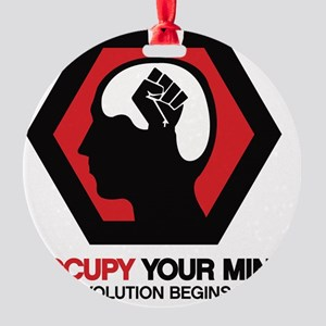 Occupy Your Mind Round Ornament