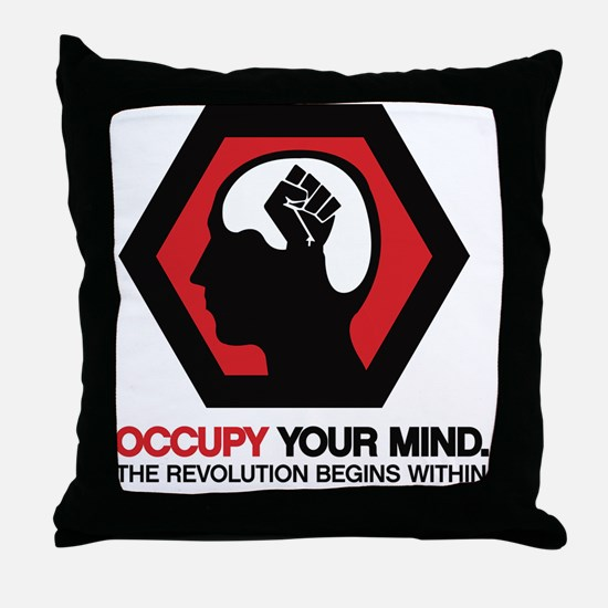 Occupy Your Mind Throw Pillow