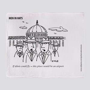MEN_Idiots Fly Throw Blanket