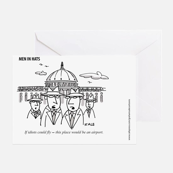 MEN_Idiots Fly Greeting Card