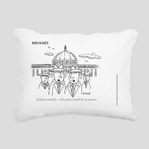 MEN_Idiots Fly Rectangular Canvas Pillow