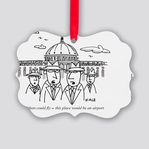 MEN_Idiots Fly Picture Ornament