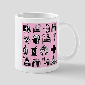 Medical Icons Dr.Stuff 11 oz Ceramic Mug