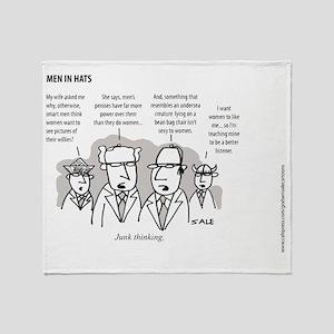 MEN_Junk Thinking Throw Blanket