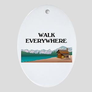 TOP Walk Everywhere Ornament (Oval)