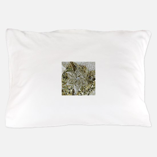 SPARKLING GOLD STAR. Pillow Case