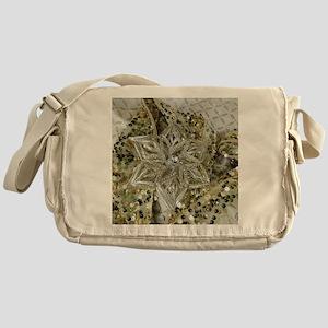 SPARKLING GOLD STAR. Messenger Bag