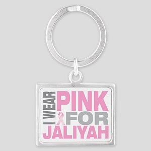 I-wear-pink-for-JALIYAH Landscape Keychain