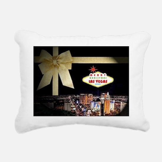 Las Vegas Christmas Stoc Rectangular Canvas Pillow