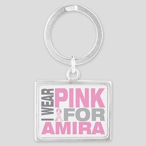 I-wear-pink-for-AMIRA Landscape Keychain