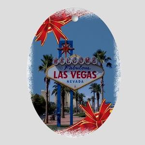 Las Vegas Christmas Oval Ornament