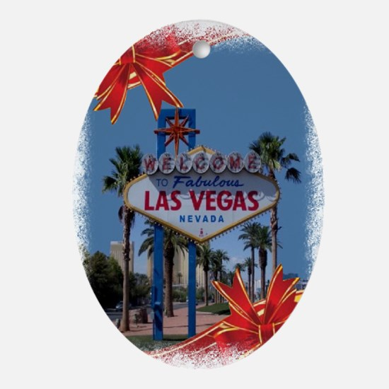 Las Vegas Christmas Oval Ornament