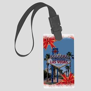 Las Vegas Christmas Large Luggage Tag