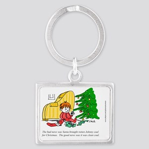 Xmas_Clean_Coal_CARD Landscape Keychain