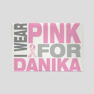 I-wear-pink-for-DANIKA Rectangle Magnet