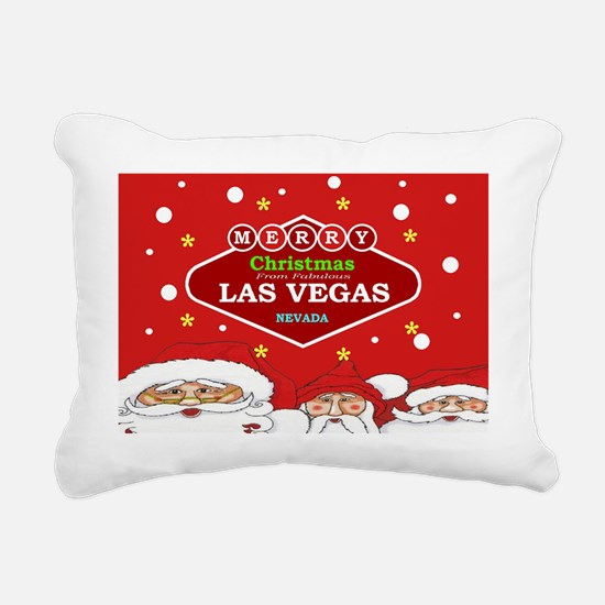 Las Vegas Santa Rectangular Canvas Pillow