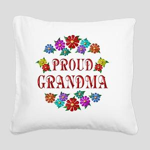 grandma Square Canvas Pillow