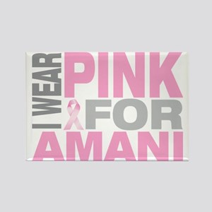 I-wear-pink-for-AMANI Rectangle Magnet
