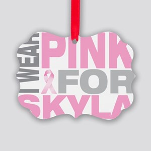 I-wear-pink-for-SKYLA Picture Ornament