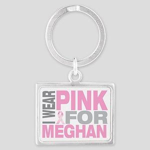 I-wear-pink-for-MEGHAN Landscape Keychain
