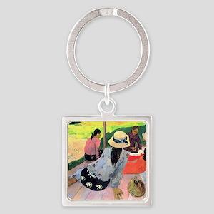 Paul Gauguin Square Keychain