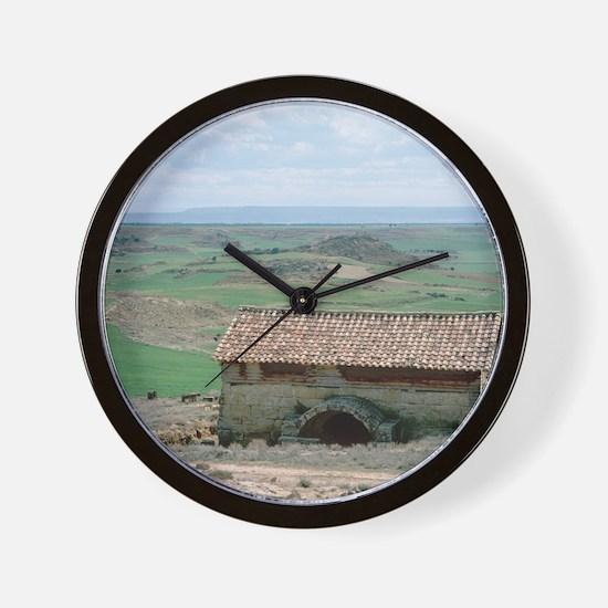 The Banares roman baths. Zaragoza provi Wall Clock
