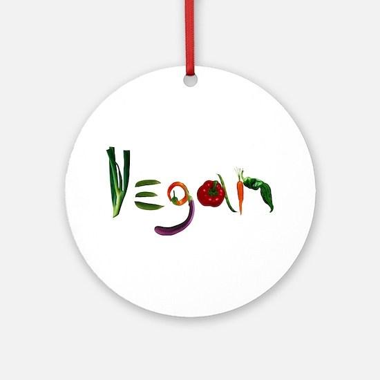 Vegan Ornament (Round)