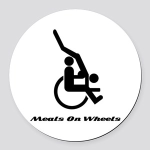 Meals on wheels Round Car Magnet