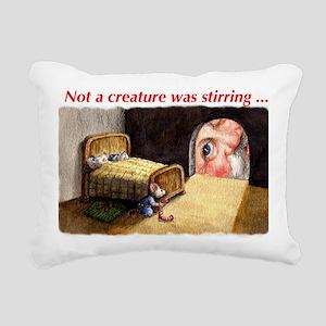 SantaMouseCdFront Rectangular Canvas Pillow