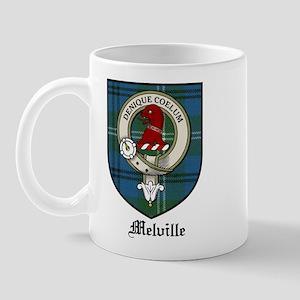 Melville Clan Crest Tartan Mug