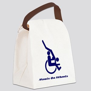 Meals on wheels Blue Canvas Lunch Bag