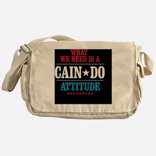CAIN DO Button Messenger Bag