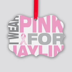 I-wear-pink-for-JAYLIN Picture Ornament